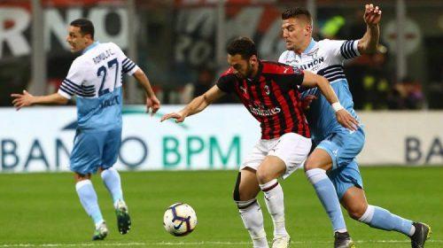 Hasil Cuplikan Gol AC Milan vs Lazio