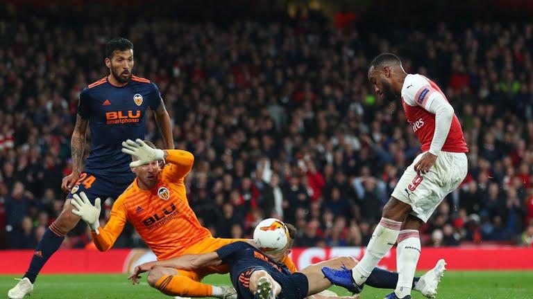 Hasil Cuplikan Gol Arsenal vs Valencia