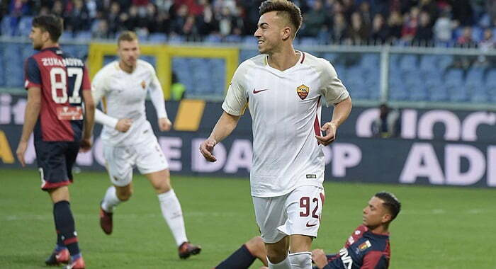 Hasil Cuplikan Gol Genoa vs AS Roma