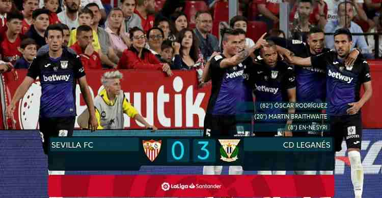 Hasil Cuplikan Gol Sevilla vs Leganes