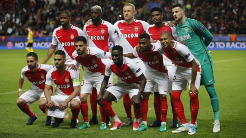 Football Soccer - AS Monaco v Borussia Dortmund - UEFA Champions League Quarter Final Second Leg - Stade Louis II, Monaco - 19/4/17 Monaco team group before the match  Reuters / Jean-Paul Pelissier Livepic
