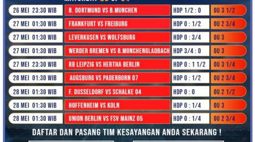 Jadwal Pertandingan Pekan ke-28 Bundesliga